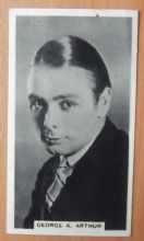 George K. Arthur, Cigarette Card, Godfrey Phillips, Cinema Stars, 1930 card #12